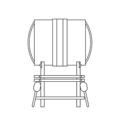 Single gong icon vector