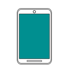 Sketch color silhouette tablet tech device icon vector