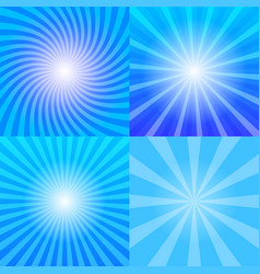 Sunrays backgrounds set vector