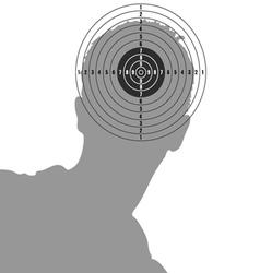 Target on man head vector