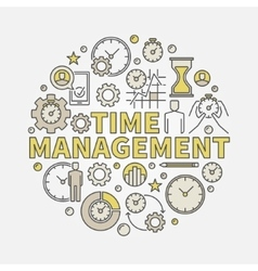 Time management round vector image vector image