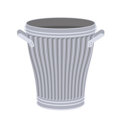 trash can open isolated wheelie bin on white vector image