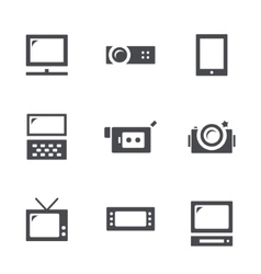 Visualization tools icon set vector image vector image