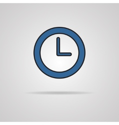Watch icon with shadow - EPS10 vector image vector image