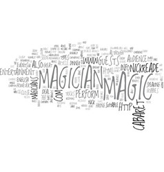 what kind of magician can i hire text word cloud vector image
