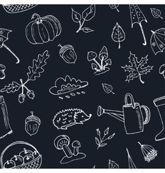 Cute hand drawn autumn seamless pattern vector