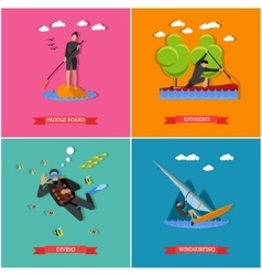 set of water sports vector image
