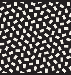 geometric scattered shapes seamless black vector image