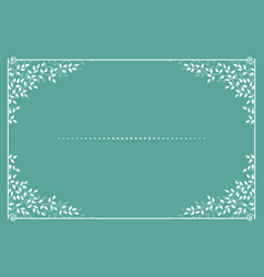 Invitation card with branches and leaves vector