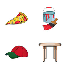 pizzeria clothes and other web icon in cartoon vector image