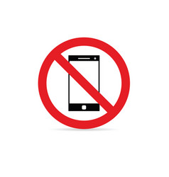 Mobile phone sign vector