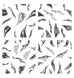 Assembly of patterns in bright style vector