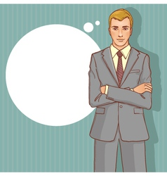 Business man on the background for your text vector