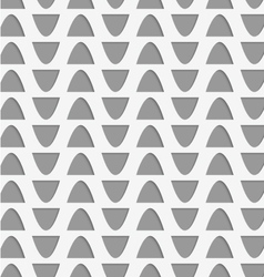 Perforated semi ovals vector