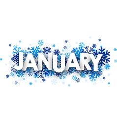 January sign vector
