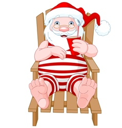 Santa claus relaxing vector