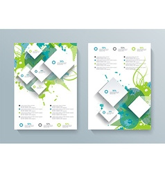 brochure flyer magazine cover poster template vector image