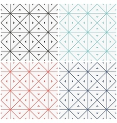 Set of seamless geometric patern vector image