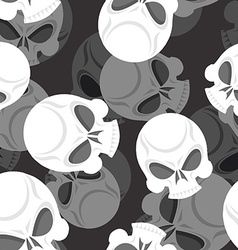 Skull seamless pattern head sklet 3d background vector