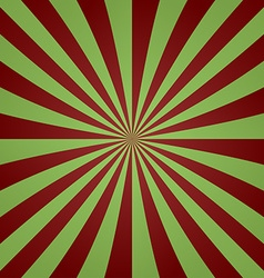 Red green vintage striped ray background vector