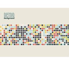 retro kostky vector image