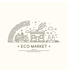Eco market vector