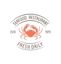Crab badge vector