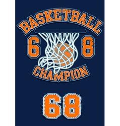 Basketball champion vector