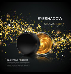 Beauty eye shadows or cheek blush ad vector