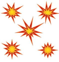 Bursting star set vector image