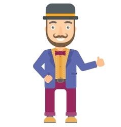 Circus actor giving thumb up vector
