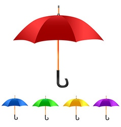 Color Set umbrella vector image