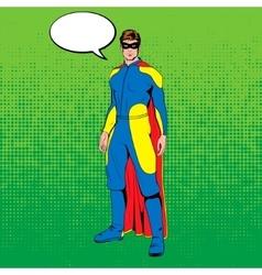 comic superhero vector image vector image