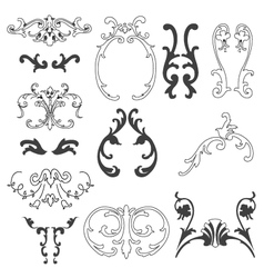 decorative design elements vector image