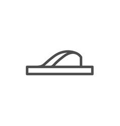 flip flop line icon vector image vector image