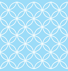 geometric seamless pattern in pastel blue modern vector image