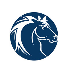 horse head logo design vector image vector image