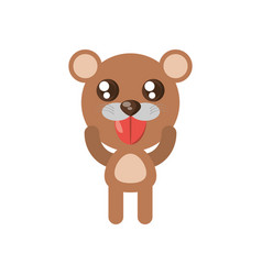 kawaii bear animal toy vector image