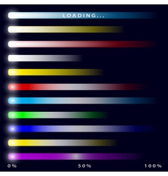 Loading banners of progress download in percents vector