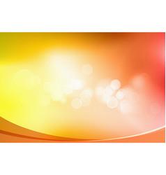 orange bokeh abstract light background vector image
