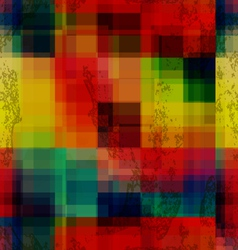 Rainbow colored old ganged blurred mosaic seamless vector