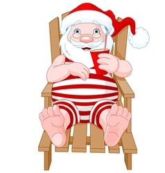 Santa claus relaxing vector