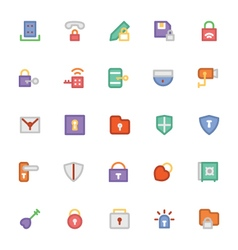 Security Colored Icons 4 vector image