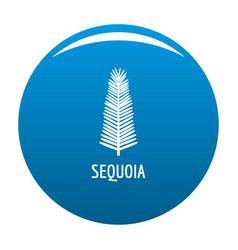 Sequoia leaf icon blue vector