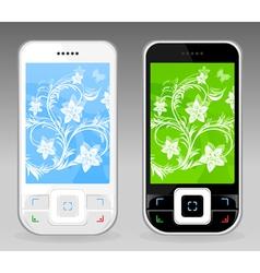 smart phones vector image vector image