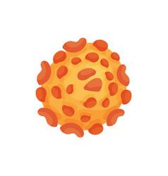 structure of hepatitis b virus under microscope vector image
