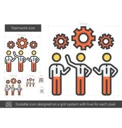 Teamwork line icon vector