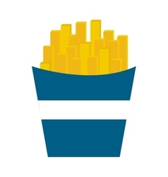 Delicious french frieds fast food icon vector