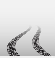 Wave tire track vector