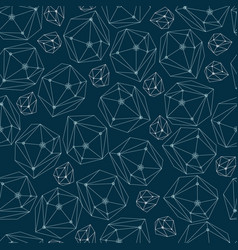 abstract background with framework crystals vector image